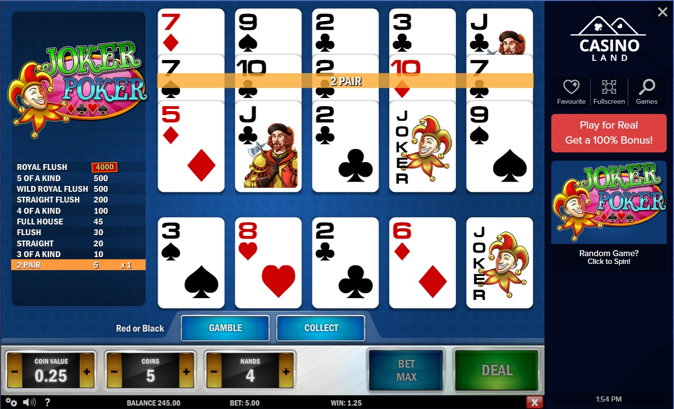 best online casino joker poker