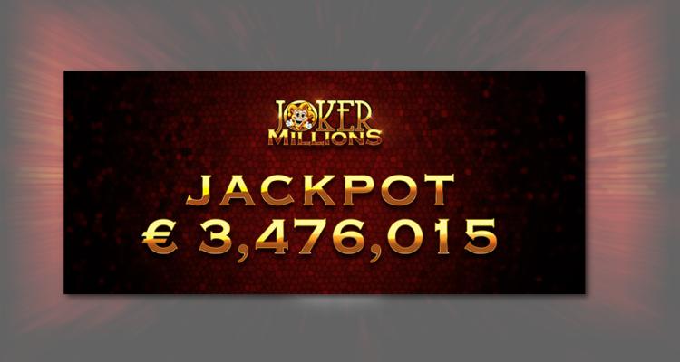 Yggdrasil Joker Millions awards $5.16m on 77 cent bet